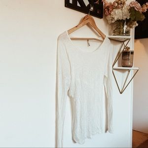 LF Emma and sam white long sleeve shirt